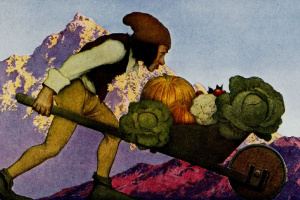 Maxfield Parrish. Vegetables of the gardener