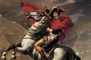 Жак-Луи Давид. Наполеон в Санкт-Бернар
