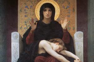 William-Adolphe Bouguereau. Comforting Virgin