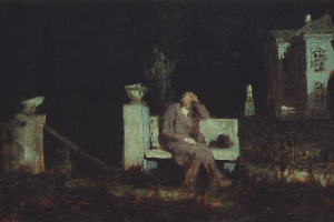 Архип Иванович Куинджи. Лунная ночь. Раздумье