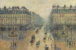 The Avenue De L'Opera, Paris, Sunlight, Winter Morning