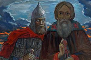 Илья Сергеевич Глазунов. Канун. 1977 Из цикла Поле Куликово