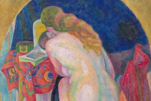 Робер Делоне. Обнаженная женщина с книгой