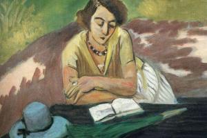 Анри Матисс. Читающая женщина с зонтом
