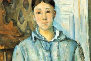 Paul Cezanne. Madame Cezanne in blue