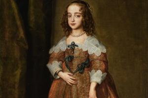 Антонис ван Дейк. Портрет Марии, королевской принцессы и принцессы Оранской