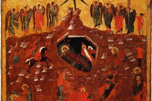Иконопись. Рождество Христово с избранными святыми