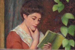 Федерико Дзандоменеги. Читающая у окна (Женщина на балконе)