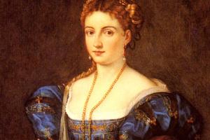 Тициан Вечеллио. Портрет дамы в итальянском костюме