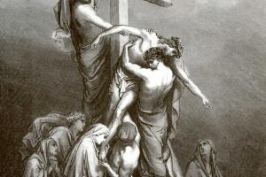 Поль Гюстав Доре. Иллюстрация к Библии: Снятие с креста
