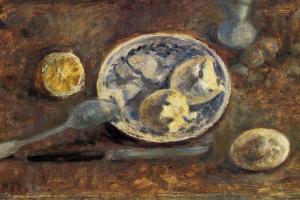 Михаил Федорович Ларионов. Натюрморт с лимоном и яйцом