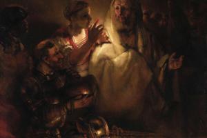 Рембрандт Ван Рейн. Апостол Петр, отрекающийся от Христа