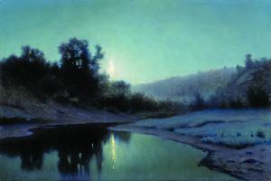 Ефим Ефимович Волков. Лунная ночь в лесу