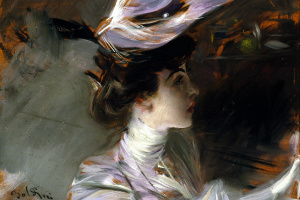 Il cappellino nuovo (Ritratto di Lina Cavalieri)