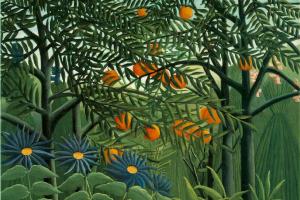 Анри Руссо. Женщина, гуляющая в экзотическом лесу