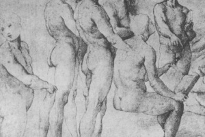 """Рафаэль Санти. Этюд к фреске """"Диспут"""". Этюды стоящих и сидящих обнаженных фигур"""