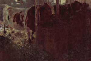 Густав Климт. Коровы в хлеву