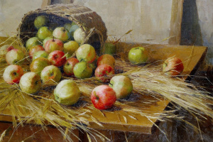 Still life with apples. 1909