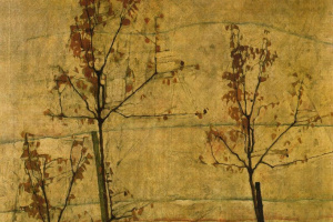 Egon Schiele. Trees in autumn