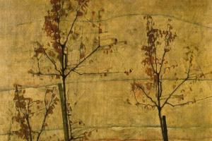 Эгон Шиле. Деревья осенью
