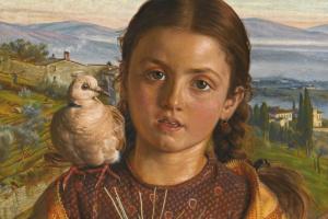 Итальянское дитя (Тосканская девочка с соломенным плетением)