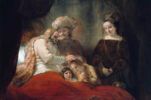 Рембрандт Харменс ван Рейн. Иаков благословляет сыновей Иосифа Манассию и Ефрема