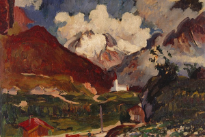 Mountain landscape, Maloja