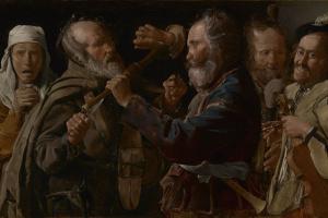 Georges de Latour. Fight musicians