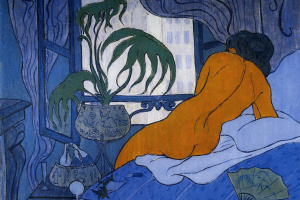The blue room or Nude