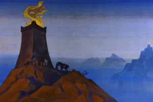 Николай Константинович Рерих. Цветы Тимура (Огни победы)