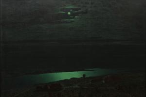 Moonlit night on the Dnieper