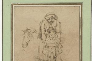 Рембрандт Харменс ван Рейн. Женщина с писающим мальчиком и голова лошади