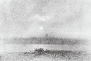 Архип Иванович Куинджи. Лунная ночь на реке