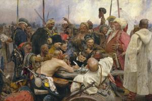 Ilya Efimovich Repin. Cossacks writing a letter to the Turkish Sultan