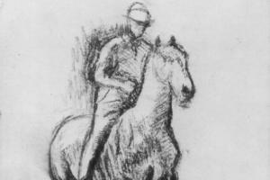 Эдгар Дега. Всадник на идущей рысью лошади