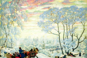 "Winter. The picture ""Carnival"""