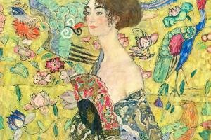 Густав Климт. Девушка с веером