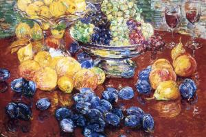 Чайльд Гассам. Натюрморт, фрукты
