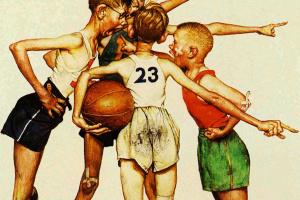 Норман Роквелл. Четыре чемпиона. Баскетбол