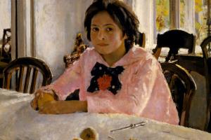 Girl with peaches (Portrait of V. S. Mamontova)