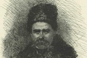 Self-portrait in a cap and sheepskin coat