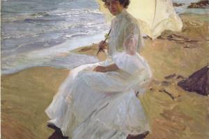 Хоакин Соролья (Соройя). Клотильда на пляже