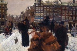 Георг Хендрик Брейтнер. Мост через Канал Сингел на Дворцовой улице, Амстердам