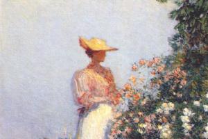Дама в цветнике