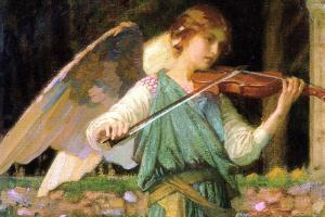 Angel playing the violin