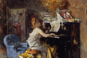 Джованни Больдини. Женщина за фортепиано