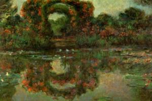 Цветущие арки в Живерни