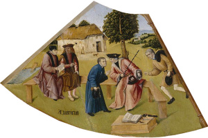 Hieronymus Bosch. Greed. The seven deadly sins and the Four last things. Fragment
