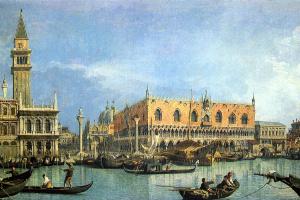 Джованни Антонио Каналь (Каналетто). Вид на собор Святого Марка и Дворец дожей в Венеции