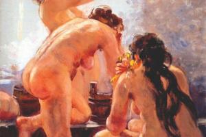 Alexander Mikhailovich Gerasimov. The Soviet public bath
